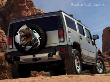 Наклейка Хищный динозавр