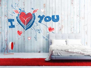 Наклейка I love you