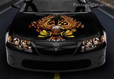 Наклейка Пламенный орел