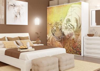 Наклейка Тигры нежатся