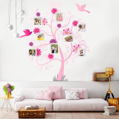 Наклейка Розовое семейное дерево