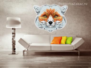 Наклейка Cunning fox