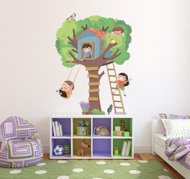 Наклейка Домик на дереве