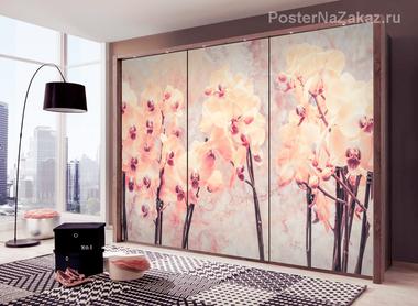 Наклейка Нежные орхидеи