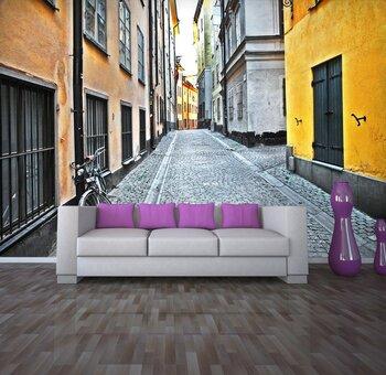Фотообои Улица в старом городе.Стокгольм