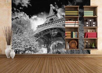 Фотообои Краствые цвета Эйфелевой башни и небо Парижа