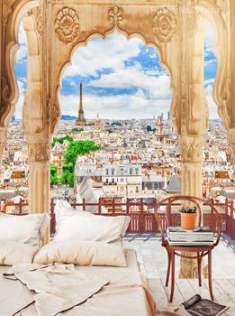Фотообои Панорамный вид на Париж