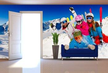 Фотообои на стену Лыжник в горах
