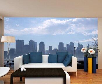 Фотообои на стену Brooklyn Bridge with Lower Manhattan skyline in New York City