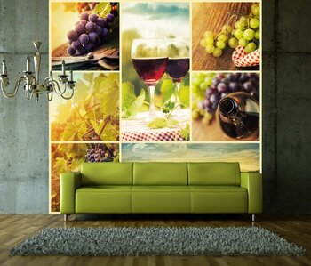 Фотообои Country wine collage