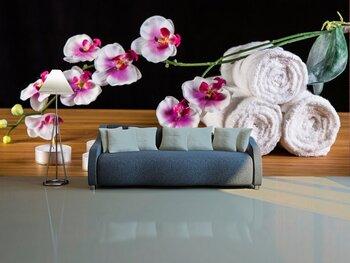 Фотообои Орхидея и свечи