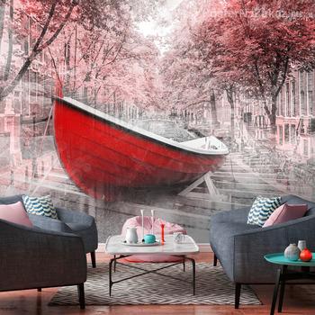 Фотообои Красная лодка