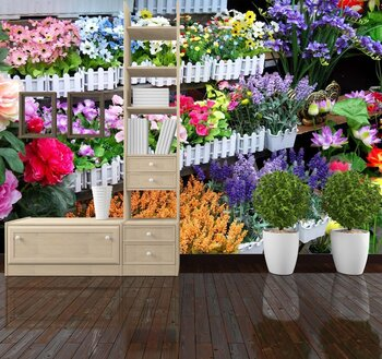 Фотообои на стену Цветок подснежника