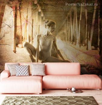 Фотообои Балерина. Сепия