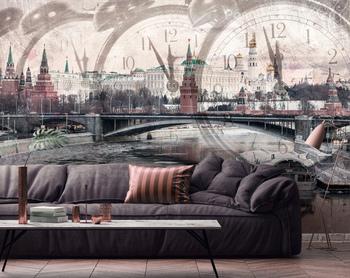 Фотообои Московский Кремль и Москва-река