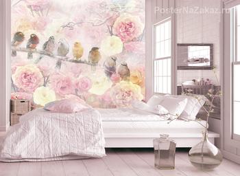 Фотообои на стену Бутон розы