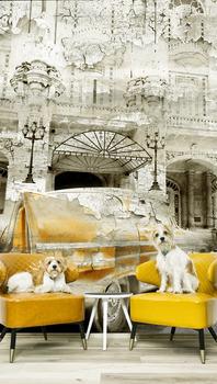 Фотообои Желтый ретро автомобиль