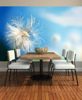 Фотообои на стену Одуванчик на ветру