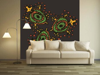 Фотообои на стену Бабочка на листике
