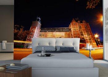 Фотообои Главный Музей Амстердама ночью.