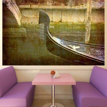Фотообои на стену Лодка на закате