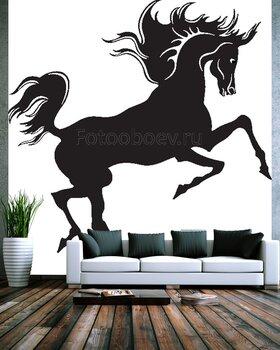 Фотообои на стену Изображение задумчивой зебры