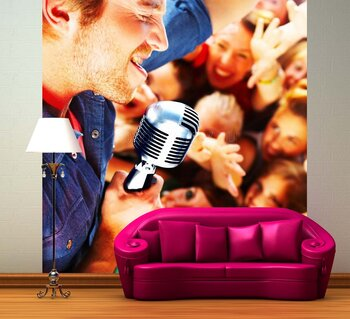 Фотообои на стену Девушка с бокалом вина