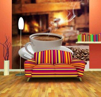 Фотообои на стену Кофейный коллаж