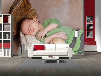 Фотообои на стену Новорожденный   ангел