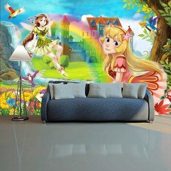Фотообои на стену Осенняя сцена с ежом 1