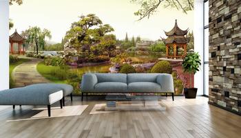 Фотообои Китайский летний сад