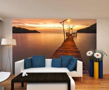 Фотообои на стену Sunset HDR over the ocean