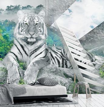 Фотообои Белоснежный тигр