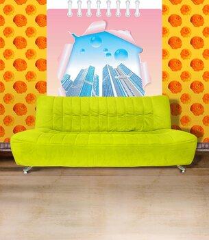 Фотообои на стену Абстрактная синяя живопись