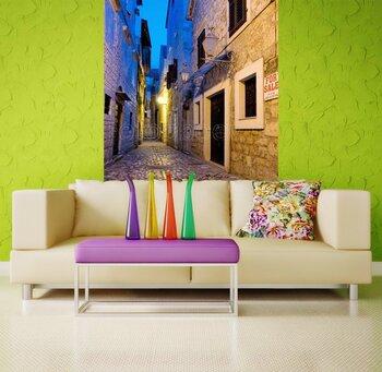 Фотообои на стену Вид улиц в старом Загребе, Хорватия