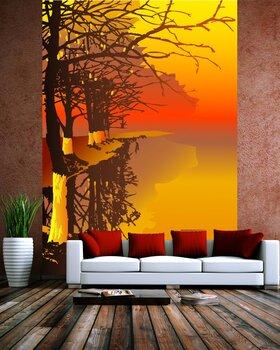 Фотообои на стену Осеннее озеро