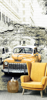 Фотообои Old retro taxi