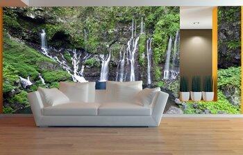 Фотообои на стену Erawan Waterfall