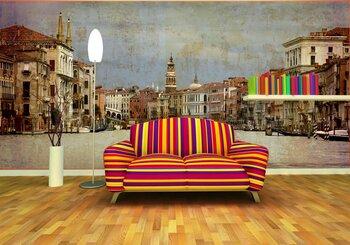 Фотообои на стену Венеция, Италия. Живописный треугольник (обработка)