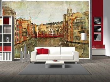 Фотообои на стену Girona, Spain,artistic retro picture