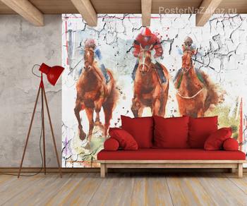 Фотообои Гонки на лошадях