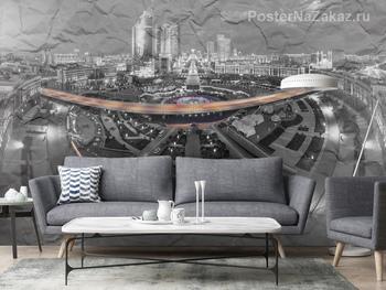 Фотообои Черно белый город