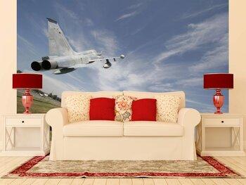 Фотообои на стену Реактивный самолет, летевший над морем