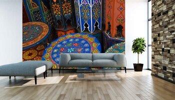 Фотообои Покрашенный деревянный стол марокканца