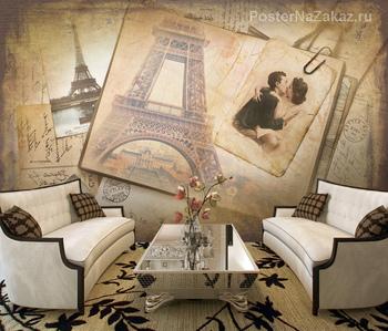 Фотообои на стену Мостовая с фонарями