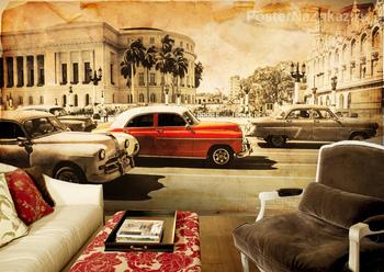 Фотообои на стену Красный автобус