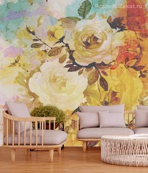 Фотообои Акварельные розы