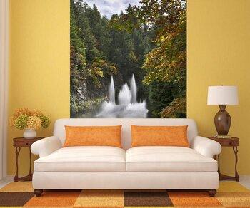 Фотообои на стену Таинственный храм около озера