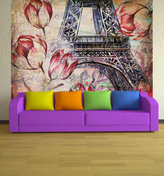 Фотообои на стену Эйфелева башня