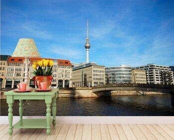 Фотообои Река Шпрее и ТВ башня на заднем плане. Берлин.